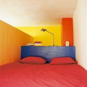 il letto nel mezzanino