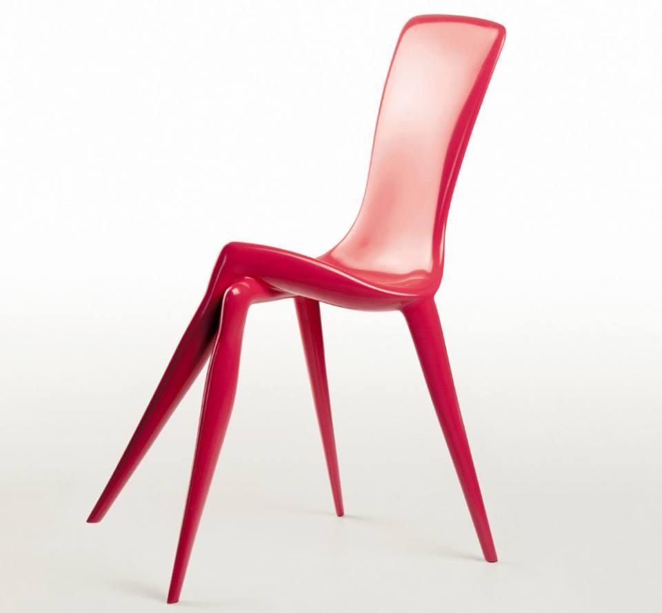 sedia di design rossa