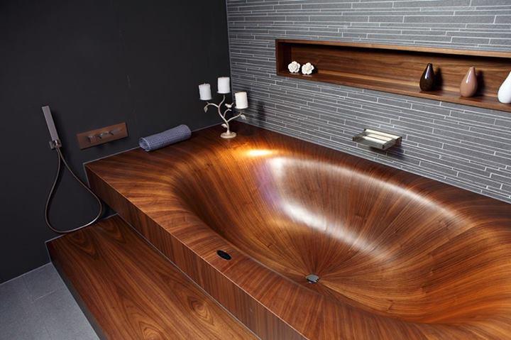 alegna, la vasca da bagno in legno