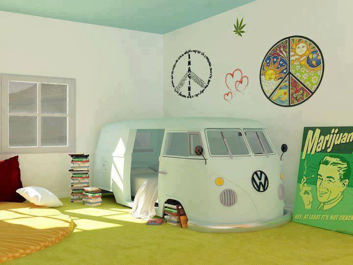 Una camera da letto in stile hippie - Camera da letto boho chic ...