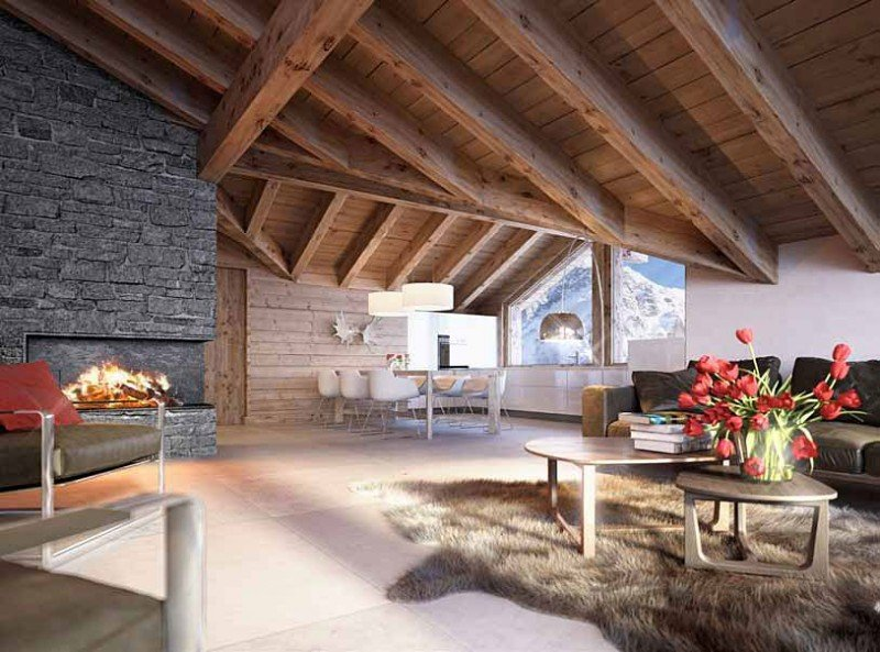 Chalet bergwelt a grindelwald in svizzera for Chalet arredamento